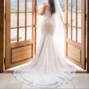 Wtoo Pippin Rose Gold and Ivory Wedding Dress Wtoo